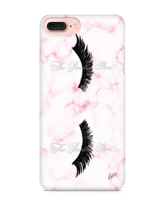 Lashes in Pink Marble iPhone 7 Plus Case