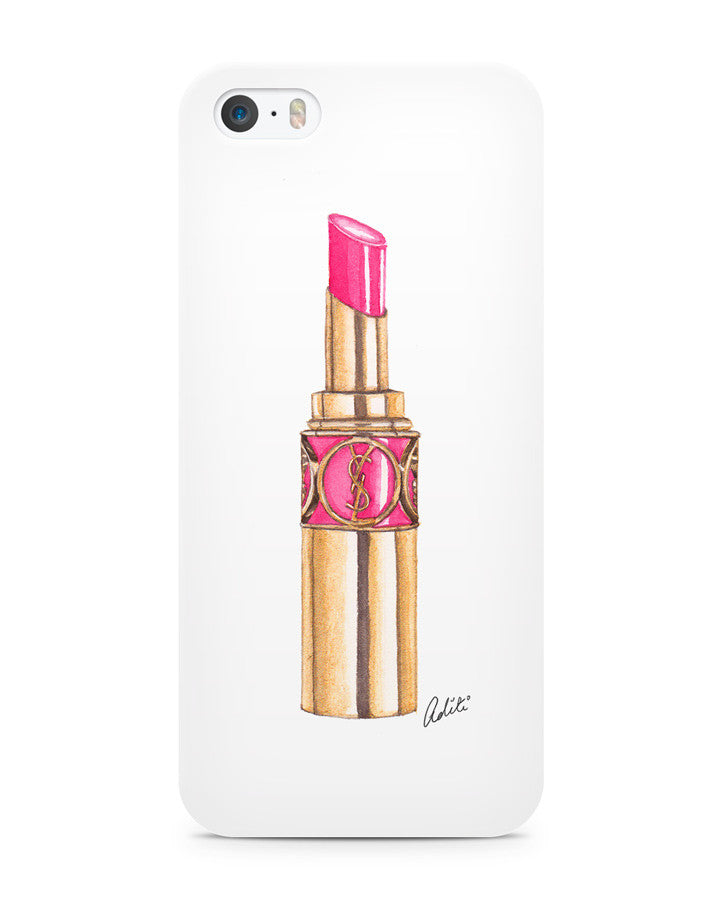 Pink YSL Lips iPhone 5/5S Case