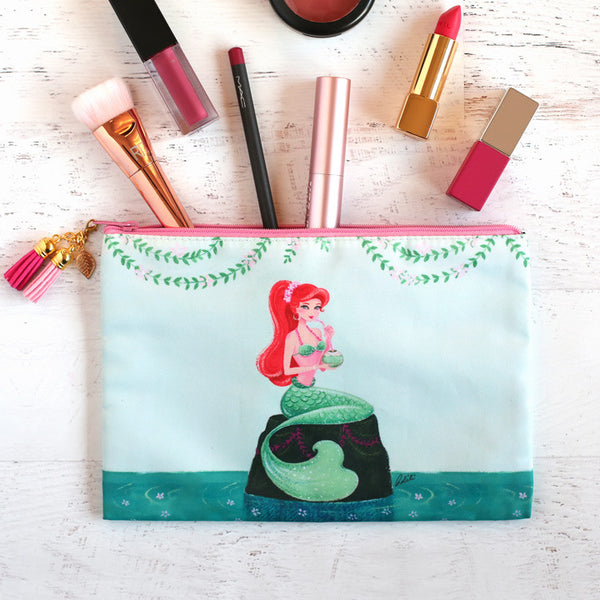 Summer Mermaid Cosmetic Pouch