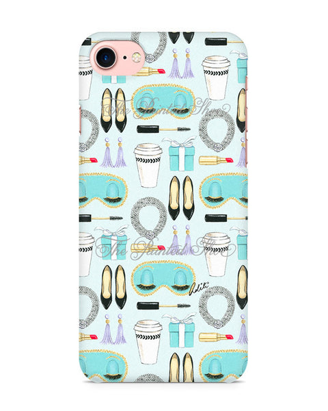 Breakfast at Tiffany's Pattern iPhone 7 Case