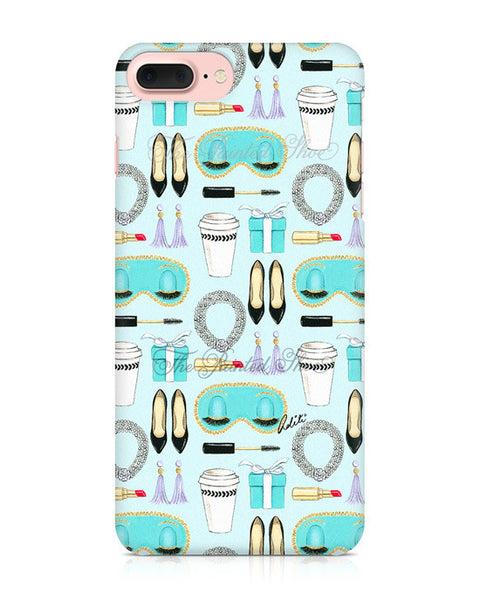 Breakfast at Tiffany's Pattern iPhone 7 Plus Case