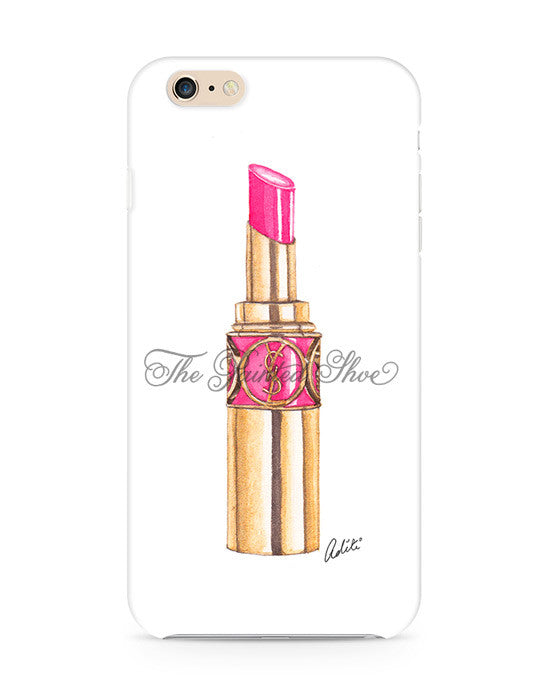 Pink YSL Lips iPhone 6/6S Case