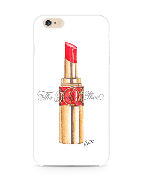 Red YSL Lips iPhone 6/6S Case