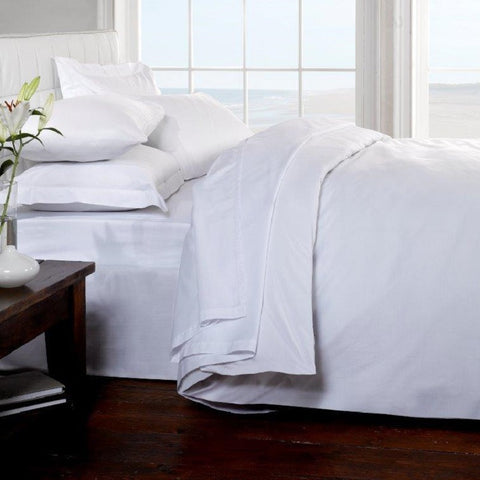 Luxury Egyptian Cotton Sheets - White 200 Thread Count