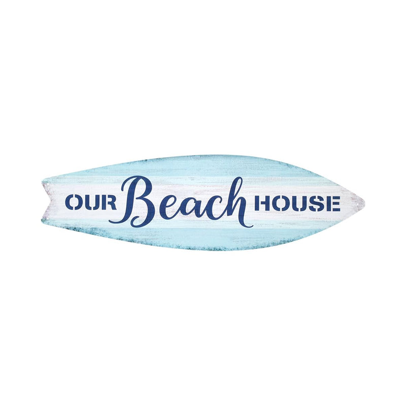 Metal Surf Sign - Our Beach House