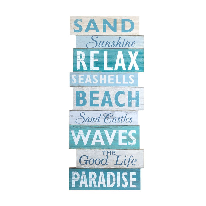 Beach Banner MDF With Rope