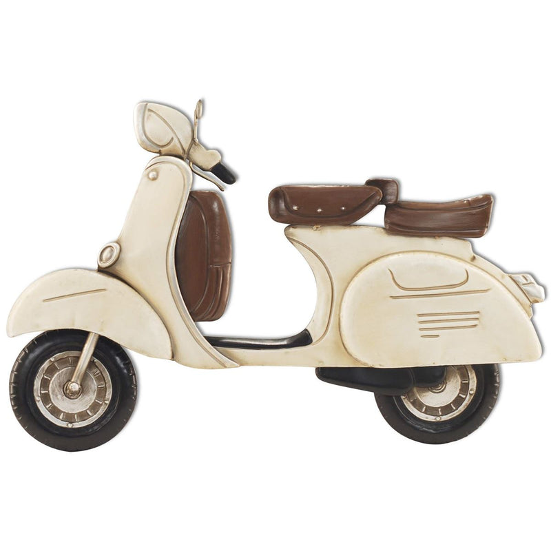 Wall Decoration - Vintage Scooter Cream 62 x 41CM