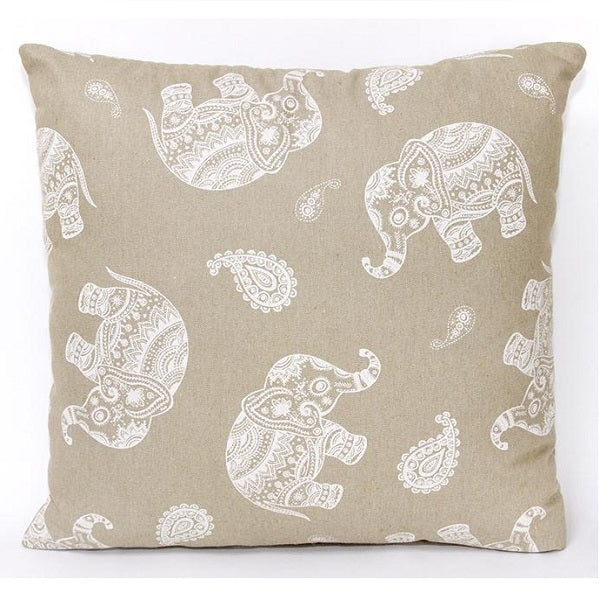 Cushion Cover 45cm Elephant Natural