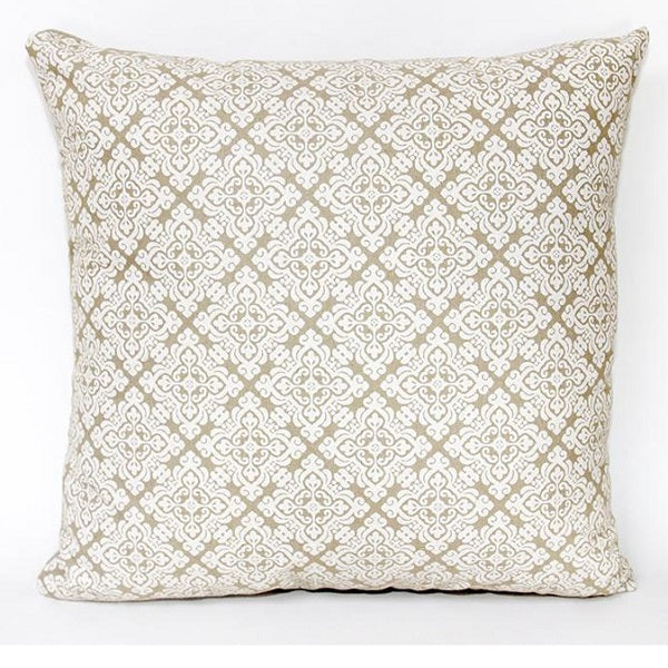 Cushion Cover 45cm Paisley White/ Natural