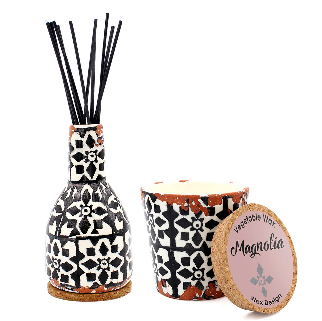 Ceramic Candle - Magnolia - Medium