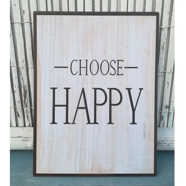 Metal Sign - Choose Happy