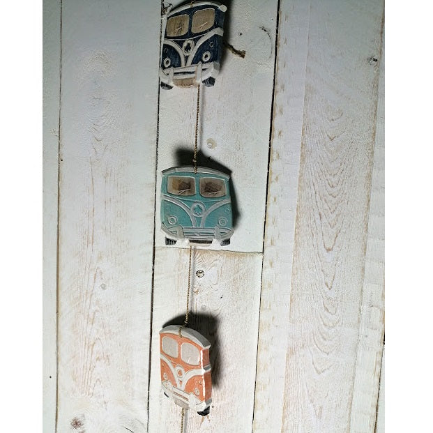 Hippy Bus Wooden Hanging Garland - Multi