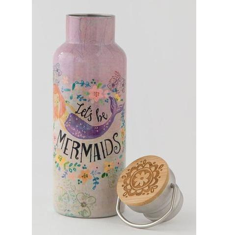 lets be mermaids traveler water bottle