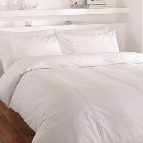 Lisbon Duvet Set - White