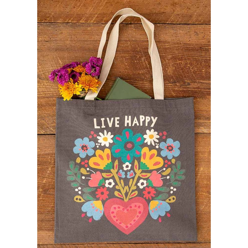 Live Happy - Cotton Tote Bag