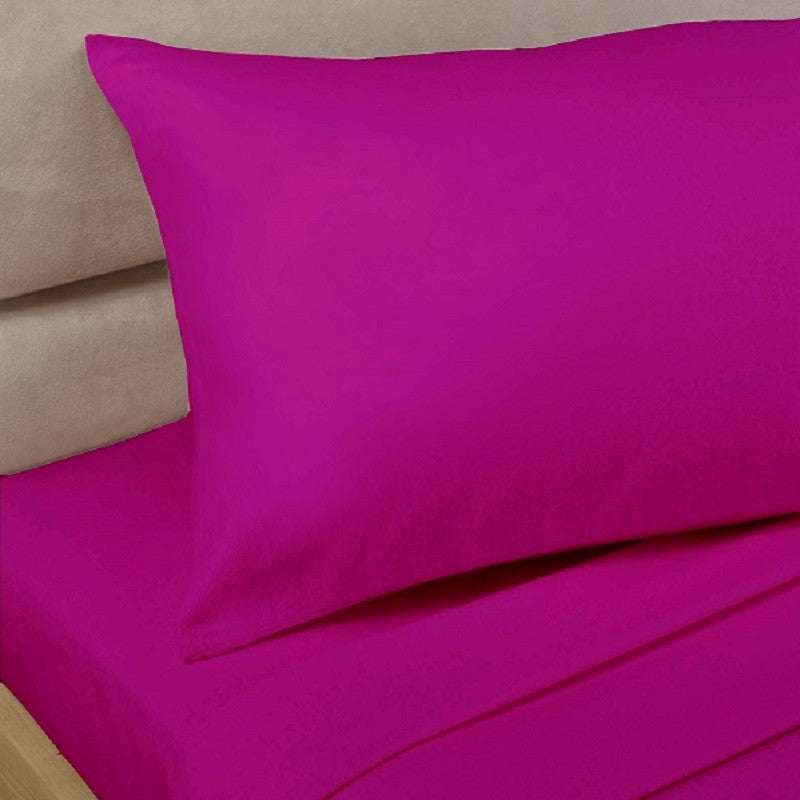Percale Sheets - Cerise 180 Thread Count