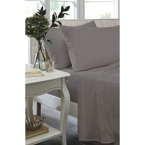 Percale Sheets - Grey 180 Thread Count