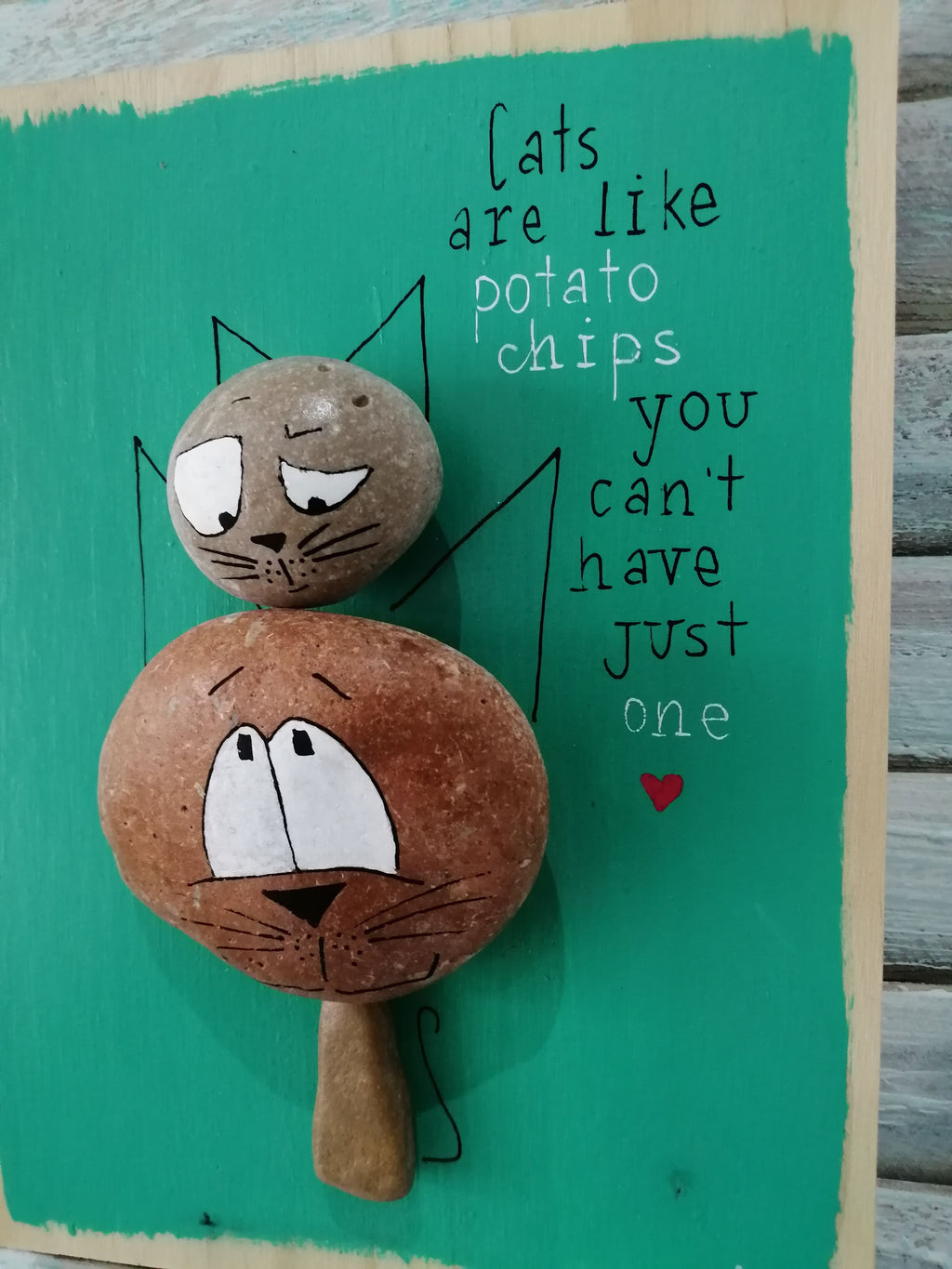 Stone Picture - Cats Are Like Potato Chips