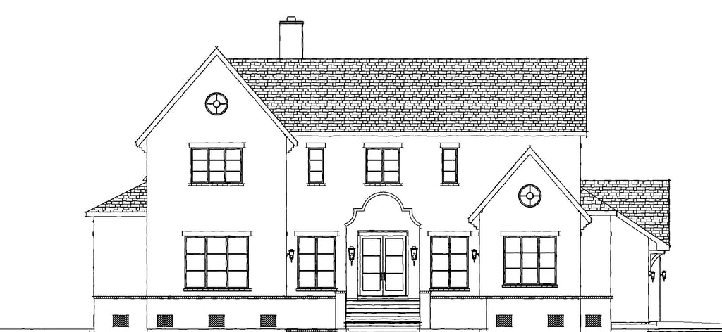 exterior front of house drawing
