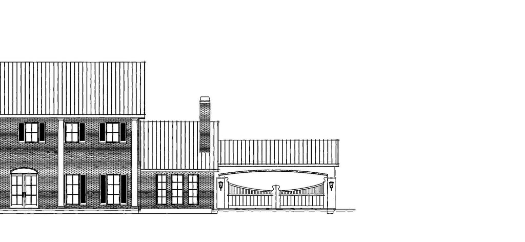 exterior front drawing with porte cochere
