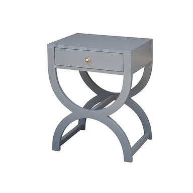 gray lacquer side table