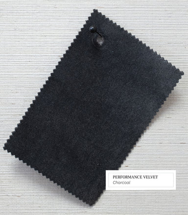 charcoal performance velvet swatch