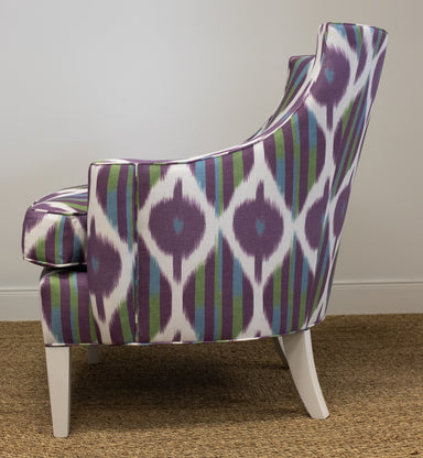 custom patterned upholstered chair