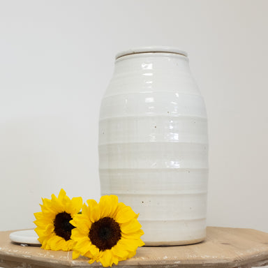 flat lidded jar