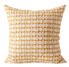 geometric linen pillow