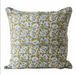 blue and green floral pillow
