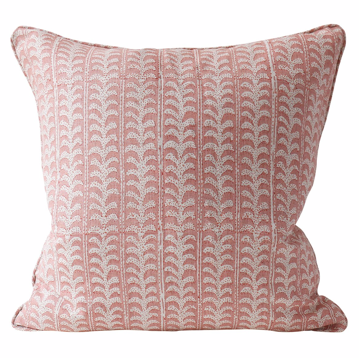 guava (pink) leafy vine square pillow