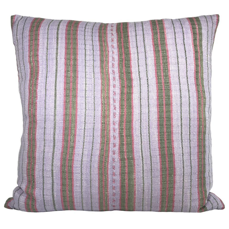 handwoven striped pillow