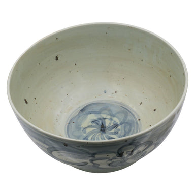 blue white bowl