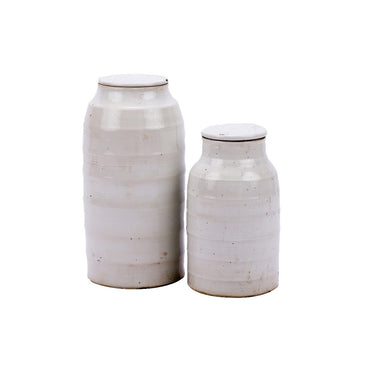 flat lidded jars