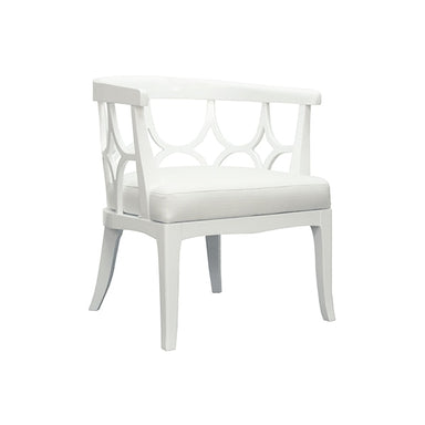 white lacquer chair