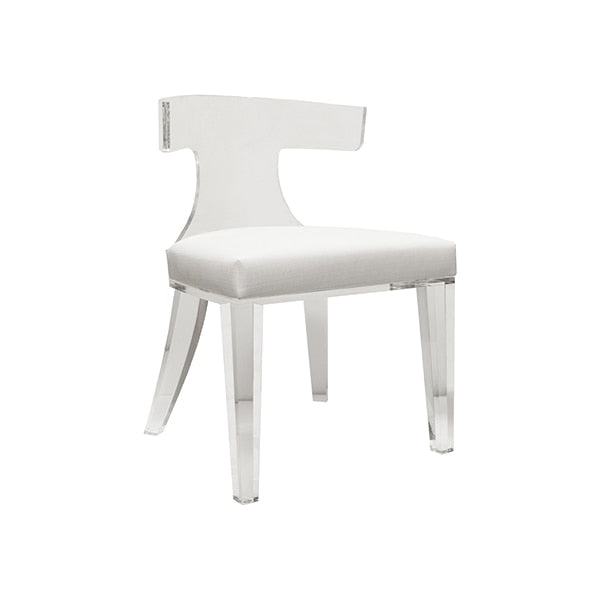 white and acrylic chair