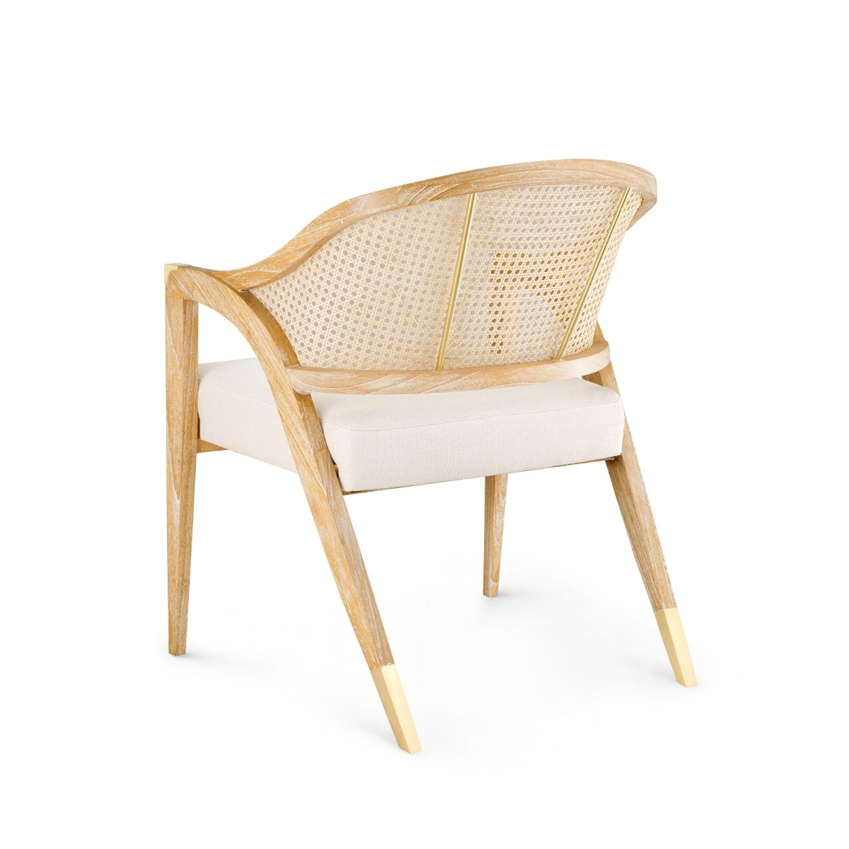 cane and wood cushioned chair