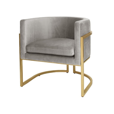 metal and velvet chair