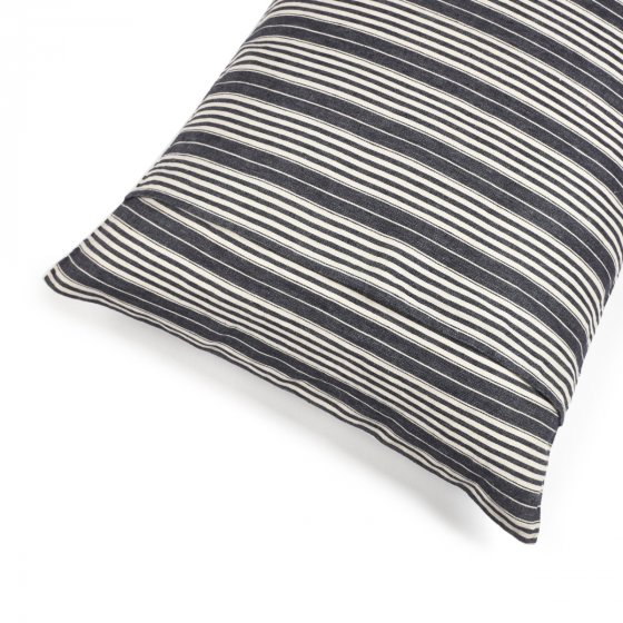 striped linen pillow
