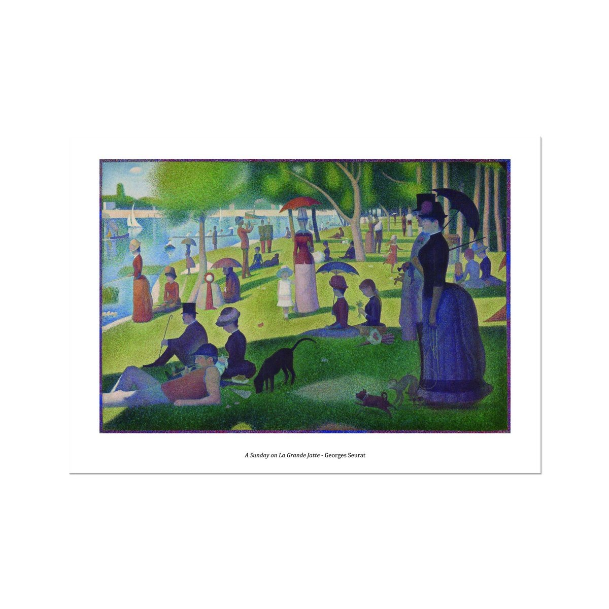 A Sunday Afternoon on the Island of La Grande Jatte - Georges Seurat - Poster