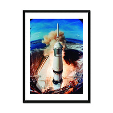 Load image into Gallery viewer, Liftoff of the Apollo 11 - Framed Poster