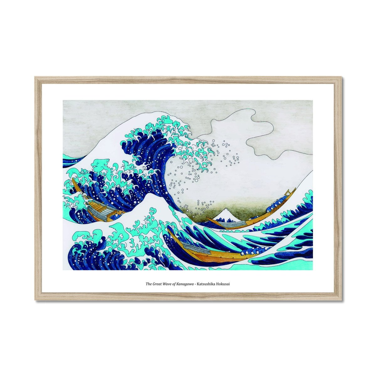 The Great Wave of Kanagawa - Poster Framed