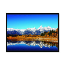Load image into Gallery viewer, The Peaks of the Teton Range in Grand Teton National Park - Framed Poster