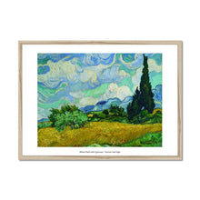 Load image into Gallery viewer, Wheat Field with Cypresses 1889 Vincent van Gogh - Framed Poster