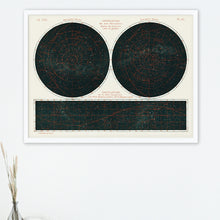 Load image into Gallery viewer, Constellations of the Two Hemispheres - Poster Framed