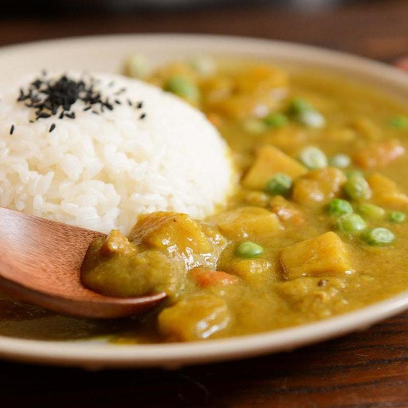 Curry Vegetable Stew with Rice & Beans and Green Salad  (Vegetarian)