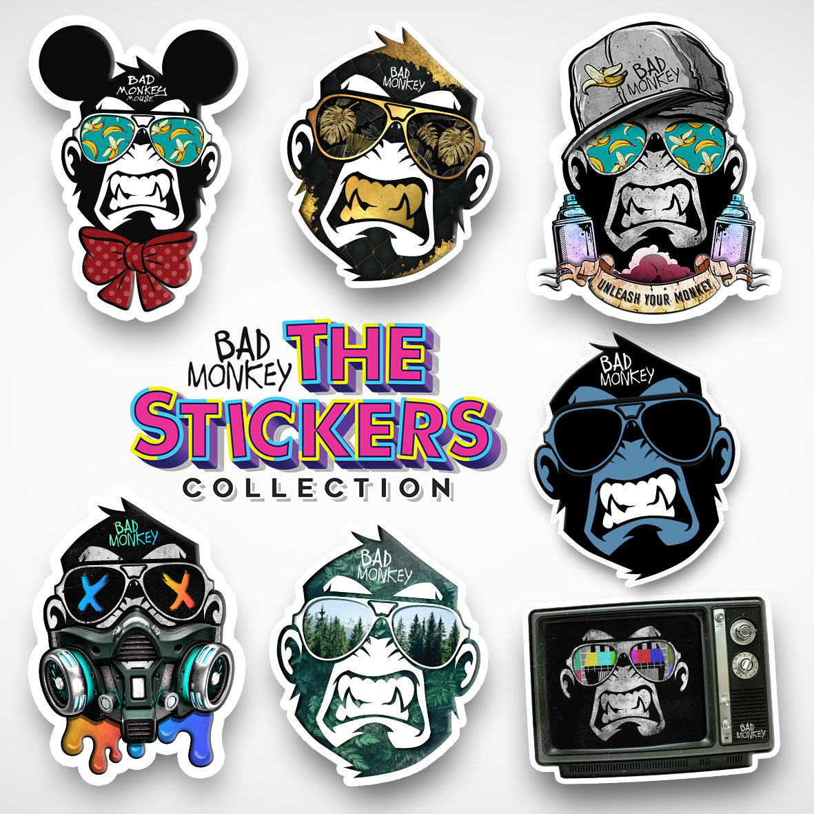 Monkey's Stickers Pack