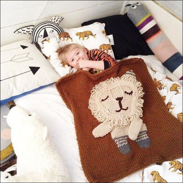 3D Animal Bear Elephant Lion Rabbit Knit Baby Blankets