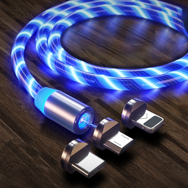 Magnetic LED Light Fast Charging Cable