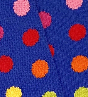 Load image into Gallery viewer, Royal Spots: Downing Blue - Combed Cotton